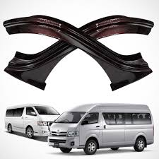 sill scuff plate red kevlar toyota hiace commuter high roof van