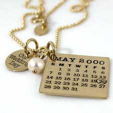 day necklaces golden nuptial day necklaces wedding day calendar jewelry
