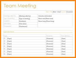Agenda Template For Meeting by 8 Team Meeting Agenda Template Attendance Sheet