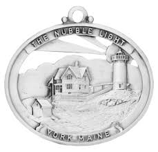 nubble lighthouse pewter ornament handcrafted usa