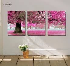 Wall Art Paintings For Living Room Online Get Cheap Red Tree Painting Aliexpress Com Alibaba Group