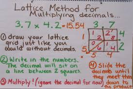 multiplying decimals lattice worksheet multiplying decimals with