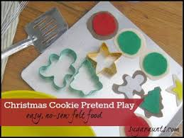 easy no sew felt christmas cookies 25 days of christmas play