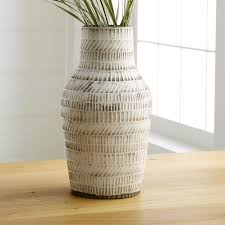 Wicker Vases Decorative Vases Glass And Ceramic Crate And Barrel