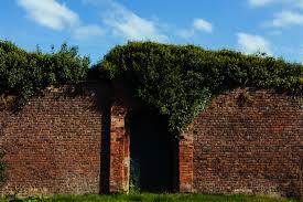 free stock photo of bricks door fence