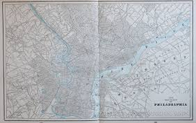 Chicago Columbian Exposition Map by Map Of Philadelphia 1893