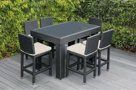 beautiful brand new outdoor wicker bar dining set