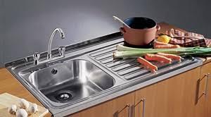 Sit On Kitchen Sink  Waste Xmm Square Edge  Tap Hole - Sit on kitchen sink