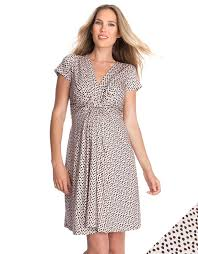 blush polka dot knot front maternity dress seraphine