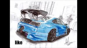 nissan 240sx drawing drawing with colored pencils nissan silvia s15 youtube