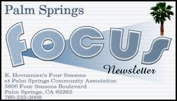 Business Card Measures Palm Springs Focus Newsletter Advertising