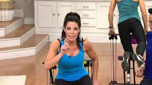 Gym Chair As Seen On Tv Master Gym Compact Fitness Chair With Dvd And Wall Chart On Qvc
