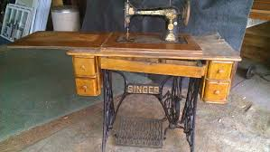Sewing Machine With Table Vintage Sewing Machine Side Table U2013 Woodbin