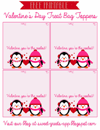 sweet nothings free printable valentine u0027s day treat bag toppers
