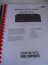 onkyo m 5160 service manual w clear protective cover u2022 8 95