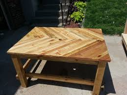 Wooden Patio Table Pallet Wood Patio Table