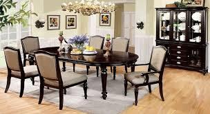 harrington elegant dark walnut formal dining set with matching