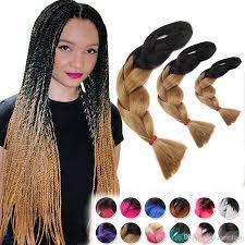 wholesale female ombre two tone gradient jumbo box braids braiding