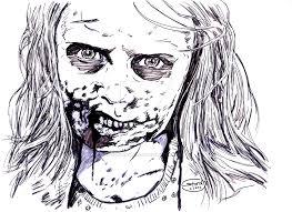 the walking dead zombie by stevenwilcox on deviantart