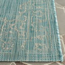 Safavieh Outdoor Rug Turquoise Indoor Outdoor Rug Easy Clean Rugs Safavieh