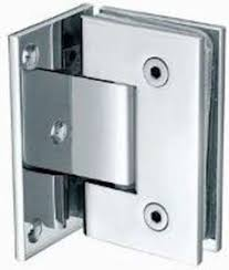 shower door hinge 90 degree glass to glass chrome or brushed
