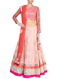 Blush Colored Blouse Devnaagri Blush Pink Georgette Lehenga Set Shop Lehengas At