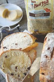 muesli bread running to the kitchen