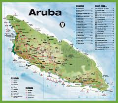 New York City Map With Attractions by Travel Map Of Aruba