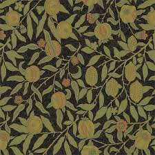 William Morris Wallpaper by Fruit Fabric Black Claret 230286 William Morris U0026 Co Archive