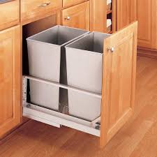 trash can cabinet insert decoration garbage can pull out drawer soft close trash can