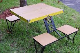 Portable Folding Picnic Table Vintage Folding Picnic Table Vintage Folding Table And Four Seats