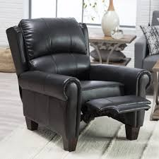barcalounger charleston leather push back recliner black hayneedle