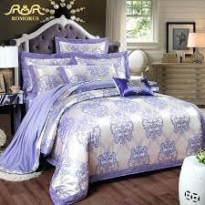 Plum Duvet Cover Set Purple Bedding Sets Canada Romorus 2017 New Luxury Satin Jacquard