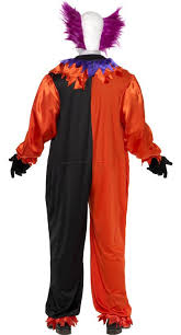 evil clown halloween costume men u0027s bo bo the clown costume