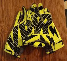 Flag Football Gloves New Nike Vapor Knit Football Receiver Skill Gloves M L Volt