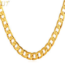 gold choker necklace wholesale images U7 gold color cuban link chain for men women jewelry wholesale new jpg