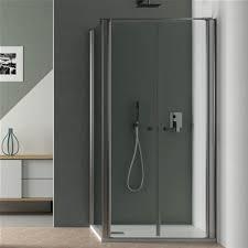 parete fissa doccia box doccia angoalre 70x70 con porta apertura saloon e parete fissa