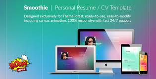 Website Resume Template Html Online Cv U0026 Resume Templates From Themeforest