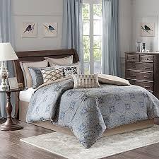 bombay bedding bombay benedict comforter set in blue bed bath beyond