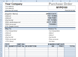 Excel Purchase Order Template Procurement Templates Tools