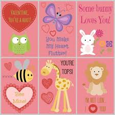 free valentines cards 60 free s day class card printables for children cards