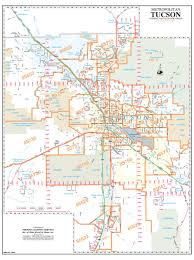 Zip Code Mapping by Metropolitan Tucson Arterial And Collector Streets Zip Codes Wall