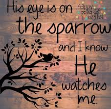 his eye is on the sparrow svg ditigal cutting file for