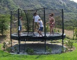 Trampoline Backyard Best 25 Garden Trampoline Ideas On Pinterest Backyard