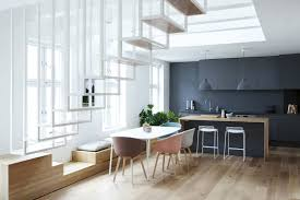 Loft Modern Scandinavian Loft Apartment With White Steel Floating Staircase