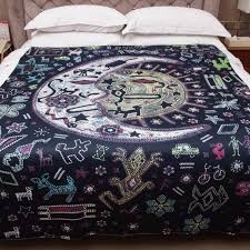 Sun And Moon Bedding Aliexpress Com Buy Celestial Sun Moon Tapestry Throw Psychedelic