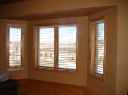 bay window pics with minimalist brown frame design with calm