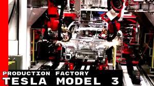 tesla model 3 production factory youtube