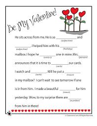 valentine mad libs valentines mad lib be mine u2013 classroom jr