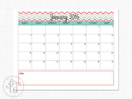 5 best images of 2016 calendar printable template cute cute